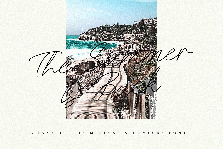Ghazali - The Minimal Signature Font example image 2
