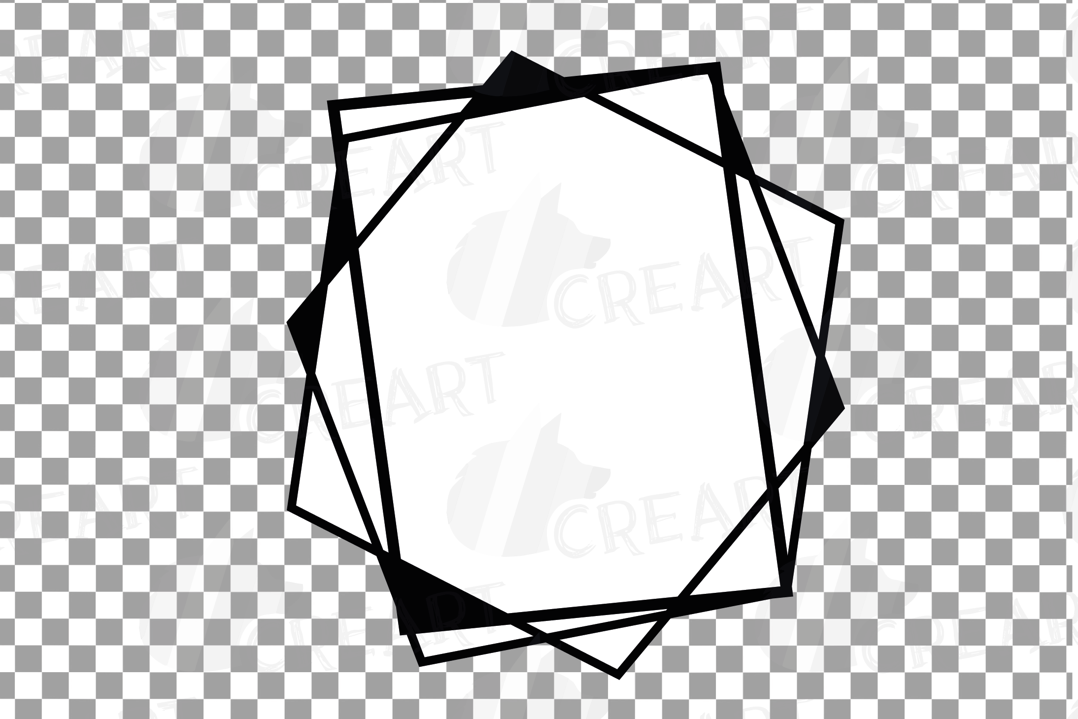 Chaotic geometric black frames, lineal frames clip art example image 4