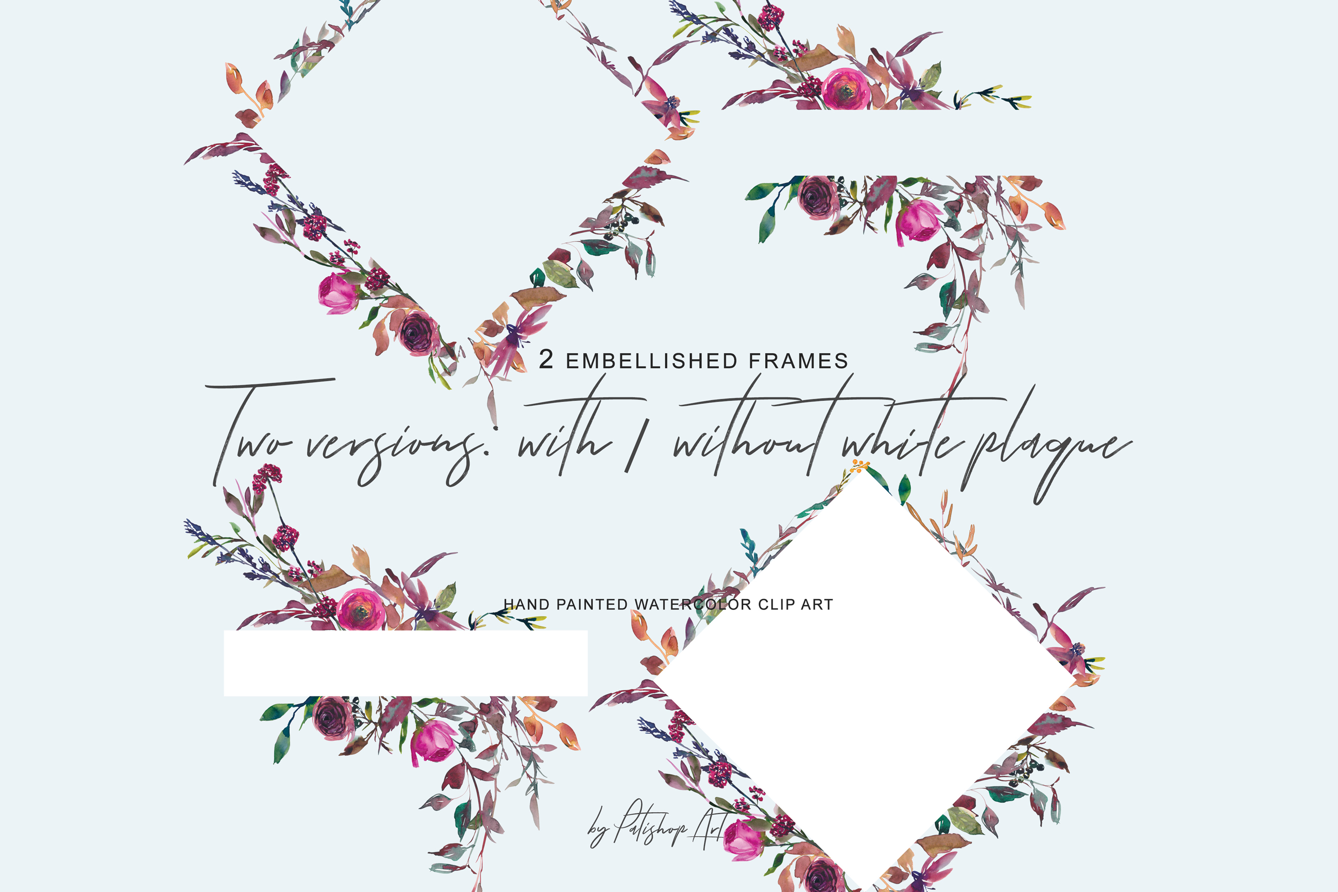 Watercolor Fall Twigs Herbs Flowers Arrangements Clipart example image 7