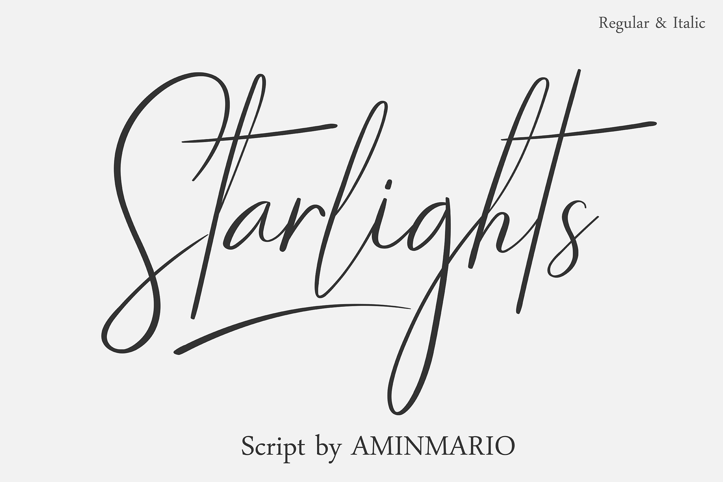 STARLIGHTS | A Classy Script example image 1
