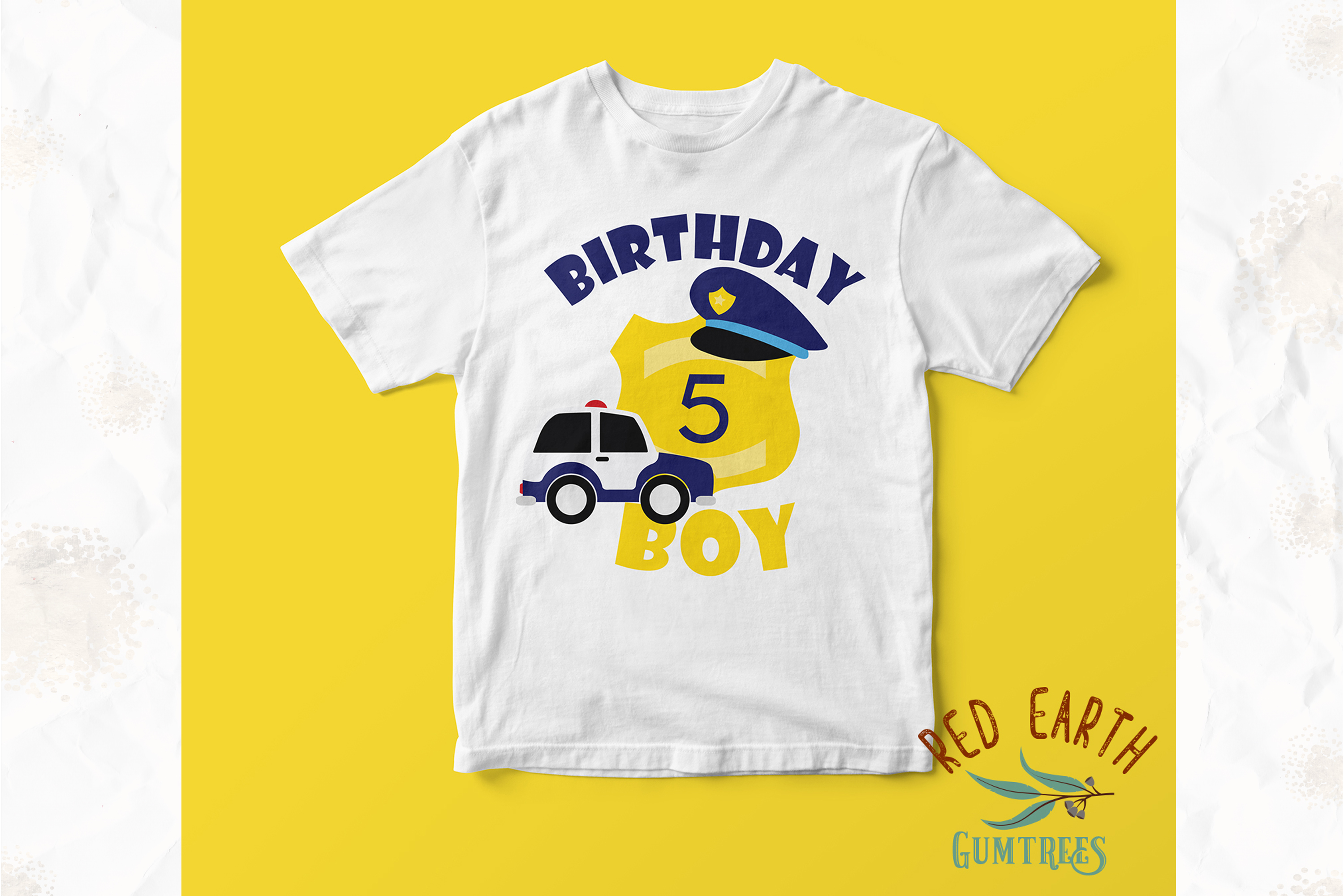 Policeman birthday theme, police officer in SVG,DXF,PNG,EPS example image 4