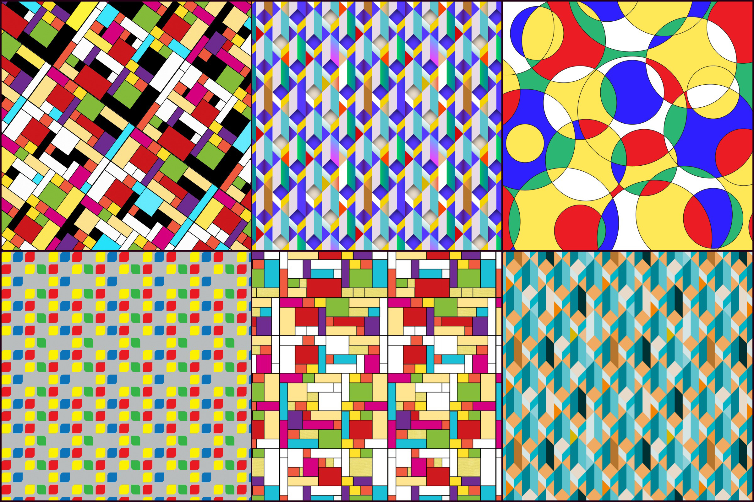 Bauhaus/Mondrian Style Geometric Digital PAPERS example image 3