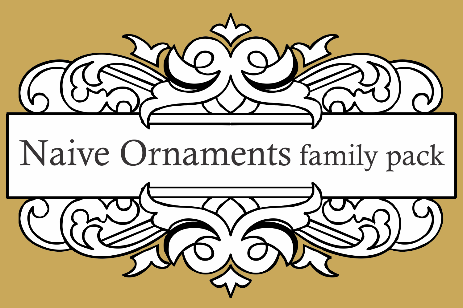 Naive Ornaments Family Pack (seven fonts) example image 1