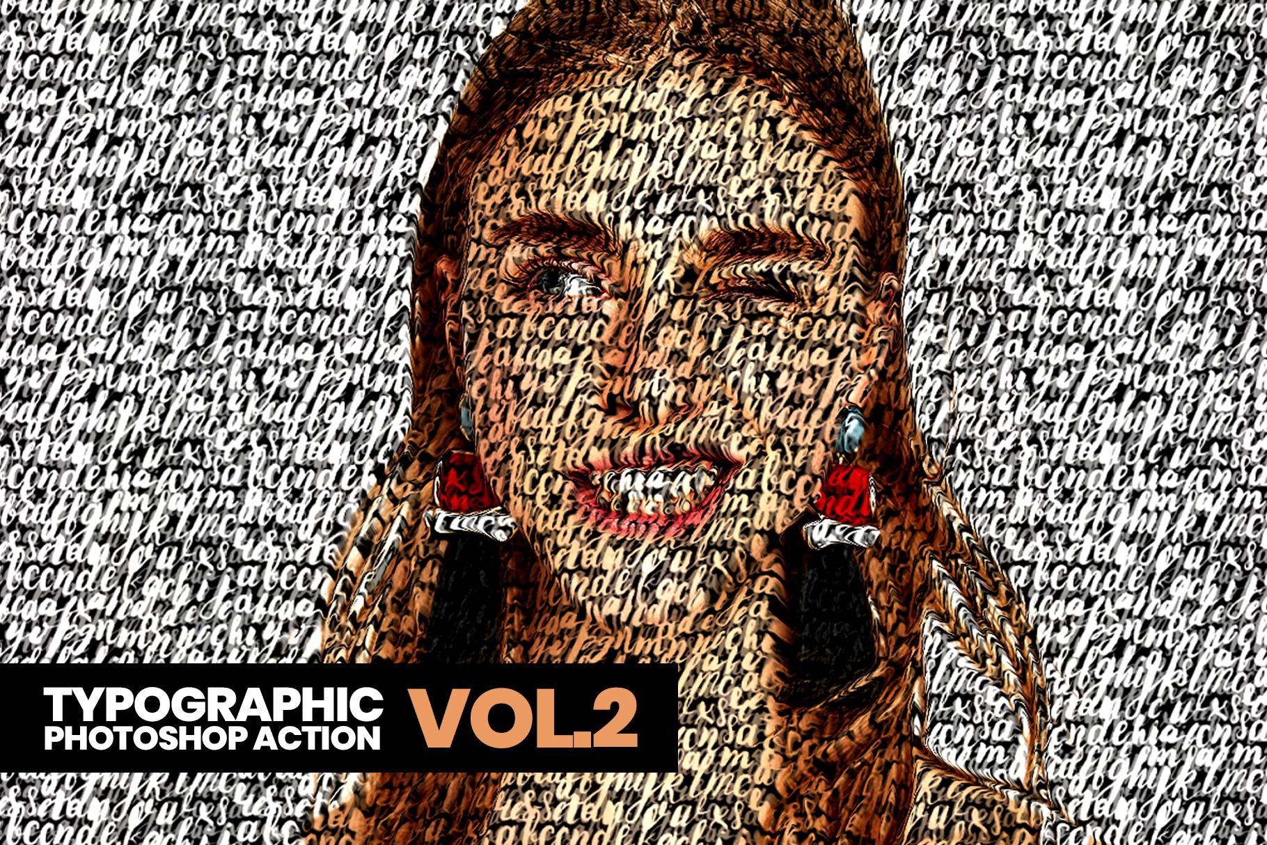 Typographic Photoshop Action example image 2