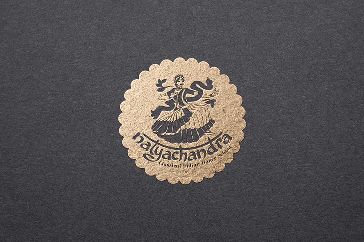 India Dance logo symbol illustration example image 1