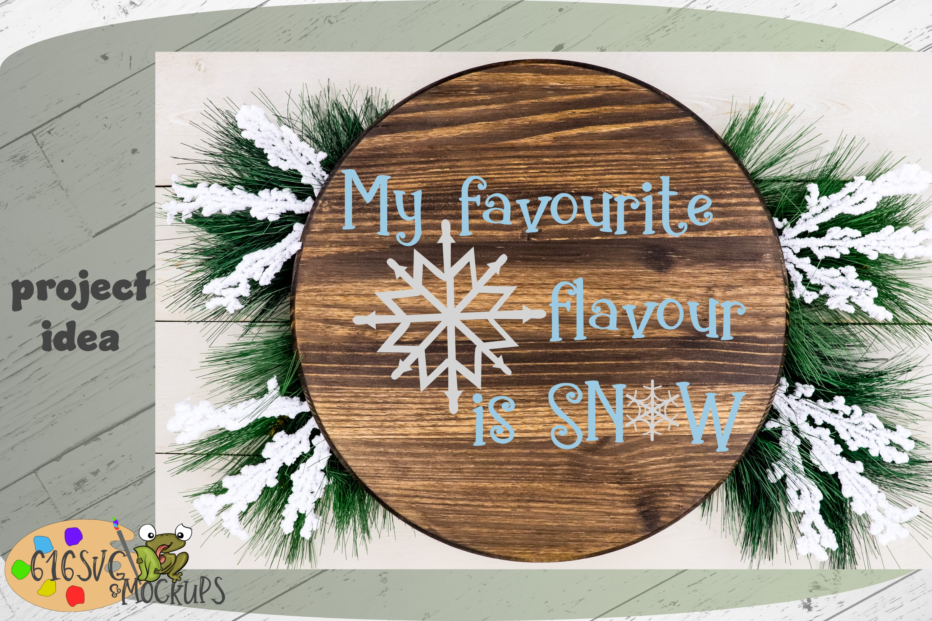 My Favourite Flavour Is Snow SVG example image 3