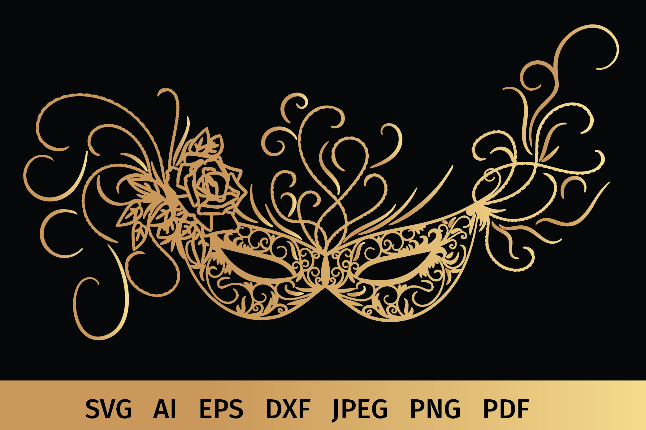 Carnival Mask svg example image 2