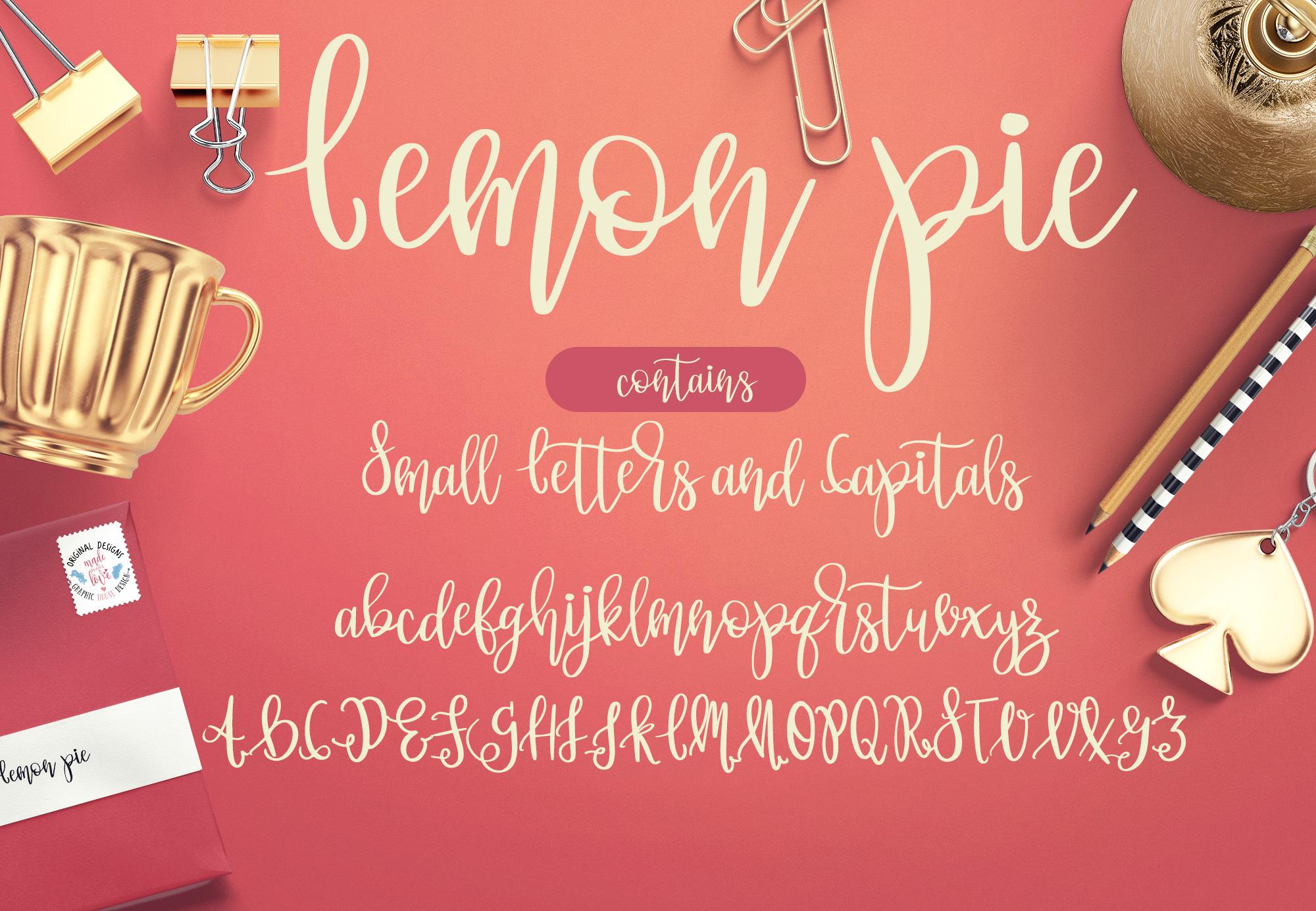Lemon Pie Modern Hand Lettered Script Font example image 2