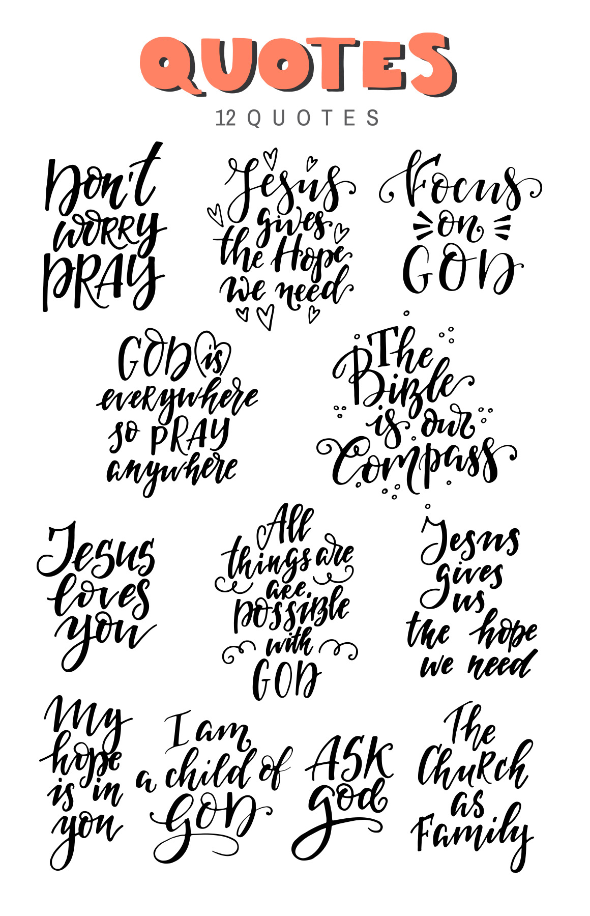 Bible lettering PACK example image 6