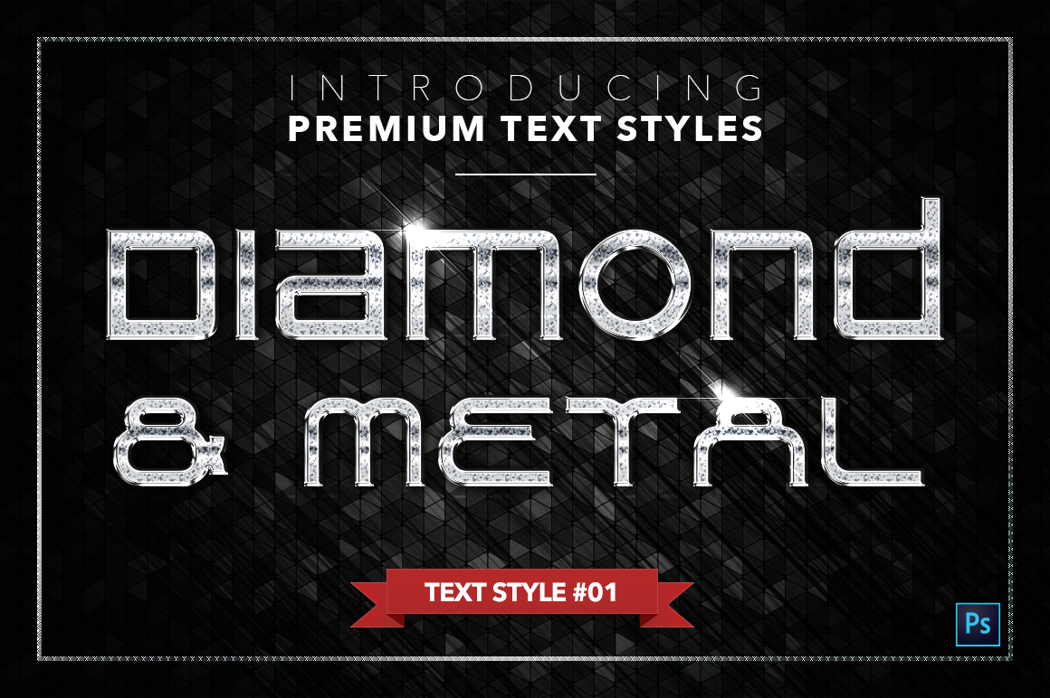 Diamond & Metal #3 - 18 Text Styles example image 2