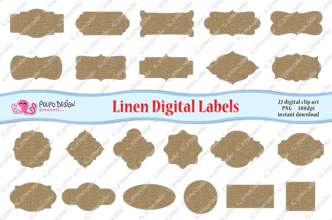 Linen Digital Labels example image 3
