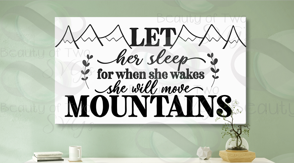Let her sleep svg and png, nursery svg, baby girl svg example image 3
