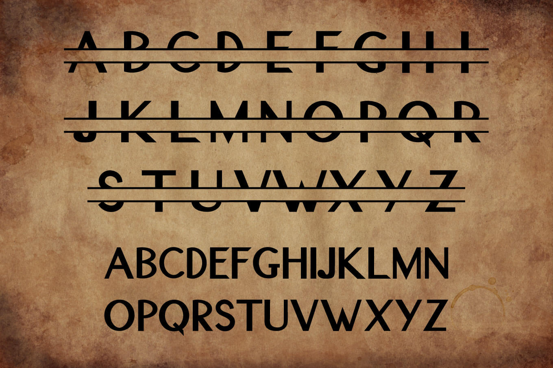 Original Split Font - A Monogram Font example image 2