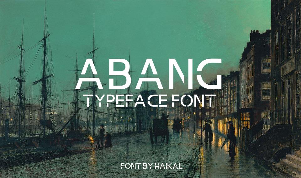 Abang Typeface Font example image 1