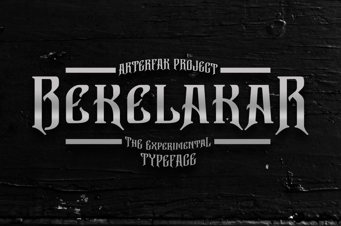 Bekelakar Typeface example image 1