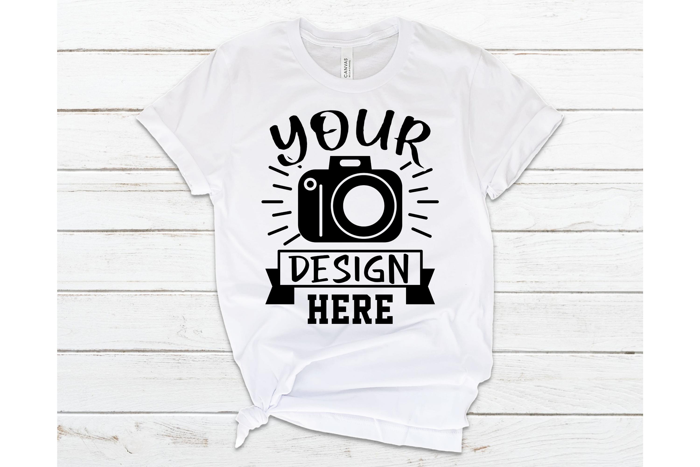 Bella Canvas 3001 Mockup, White T-shirt Mockup, Flat Lay example image 1
