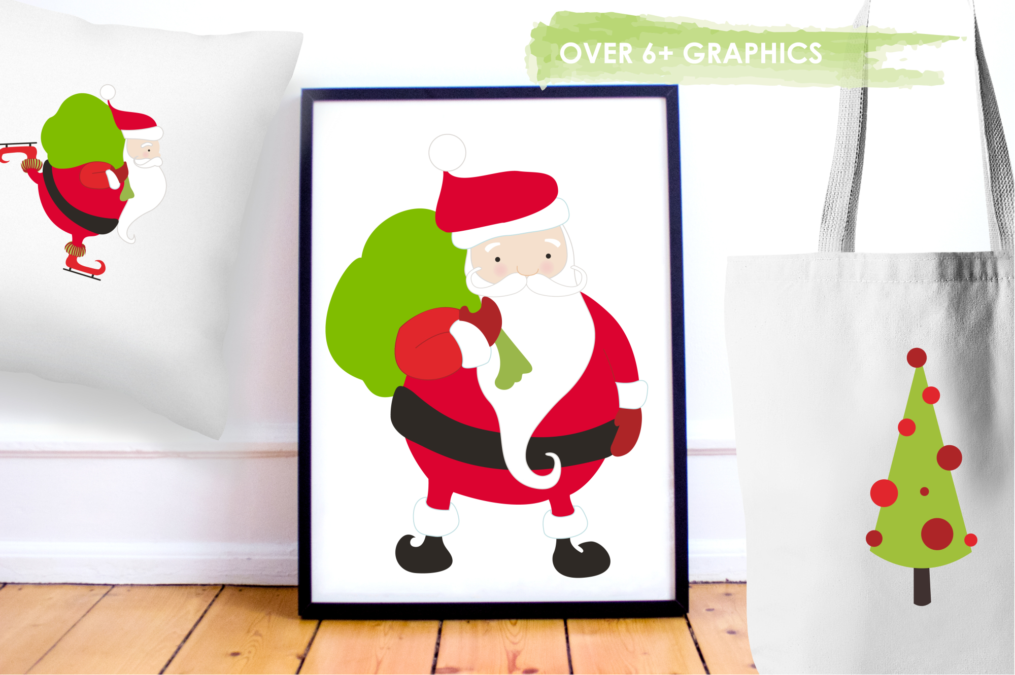 Santa Rudolf graphics and illustrations example image 5
