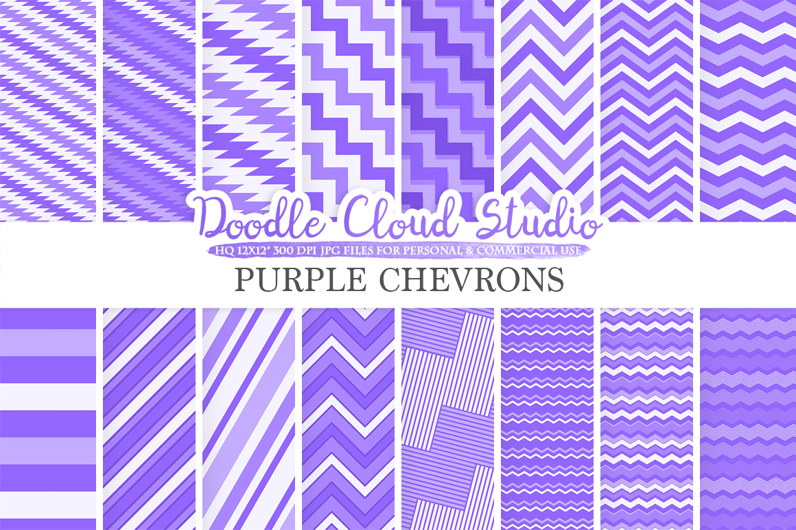 urple Chevron digital paper, Chevron and Stripes pattern, Zig Zag lines background, Instant Download for Personal & Commercial Use example image 1