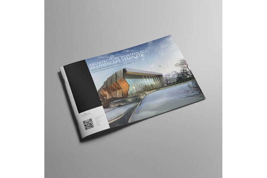Architecture Portfolio A4 Landscape Template example image 4
