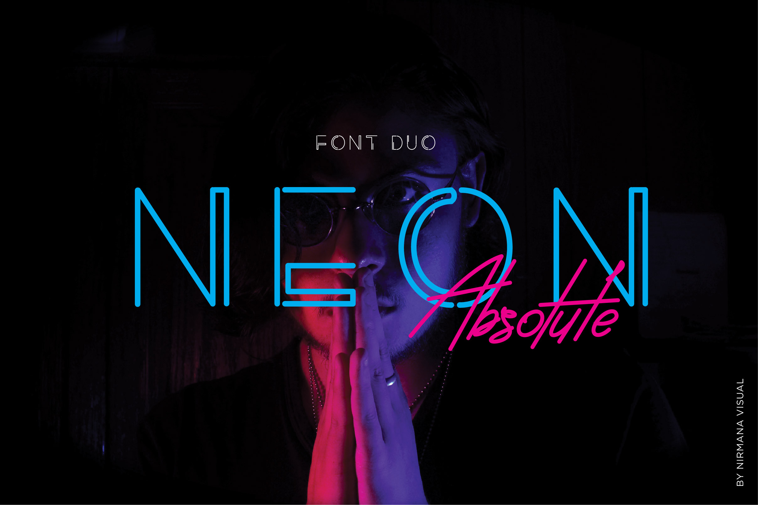 Neon Absolute - Font Duo example image 1