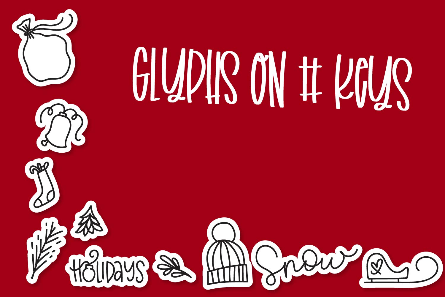 Christmas Dingbats - A font filled with Christmas symbols example image 5