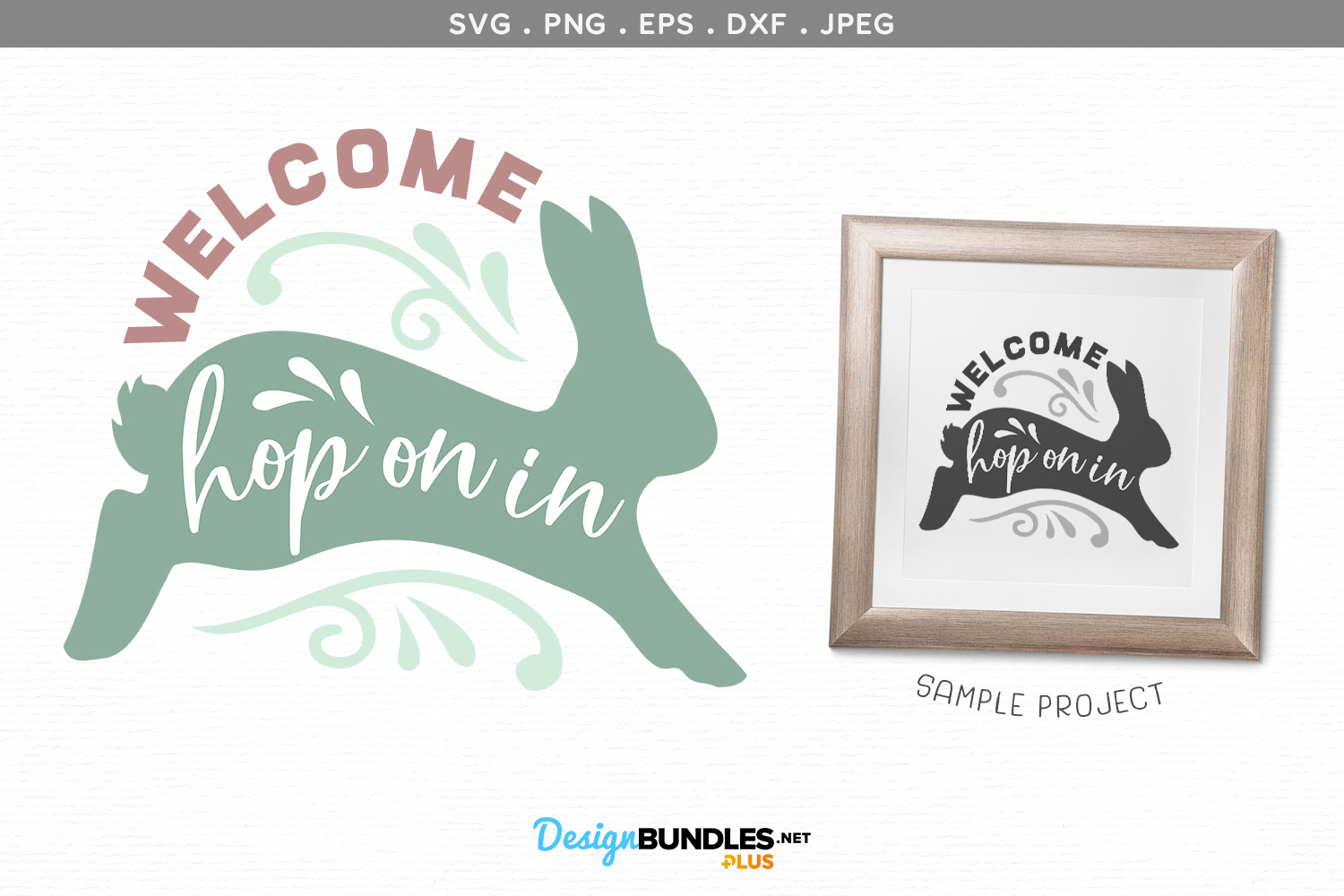 Welcome, Hop On In - svg cut file & printable example image 1