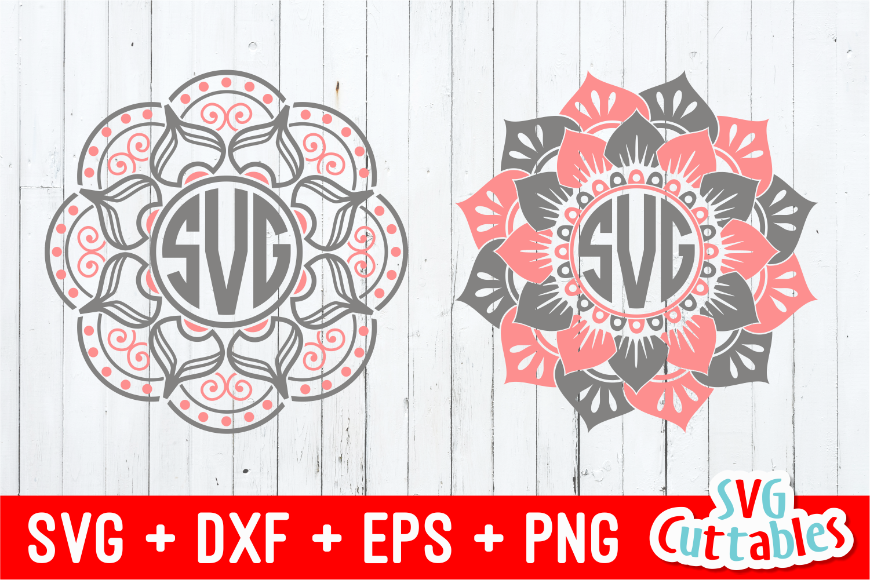 Download Mandala Monogram Frames | SVG Cut Files
