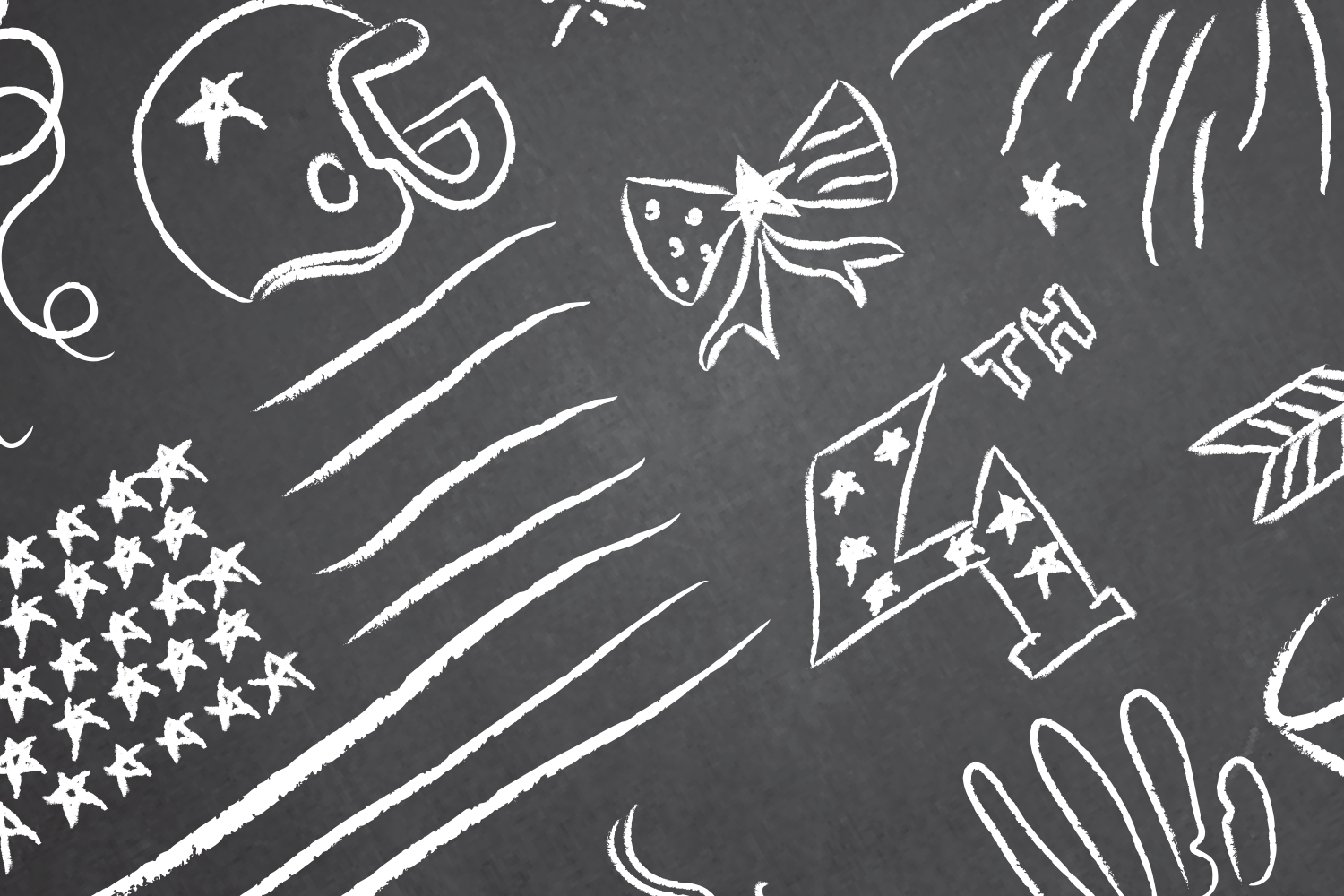 Patriotic 4th of July Chalkboard Vector Clipart in EPS/AI/PDF/PSD example image 2