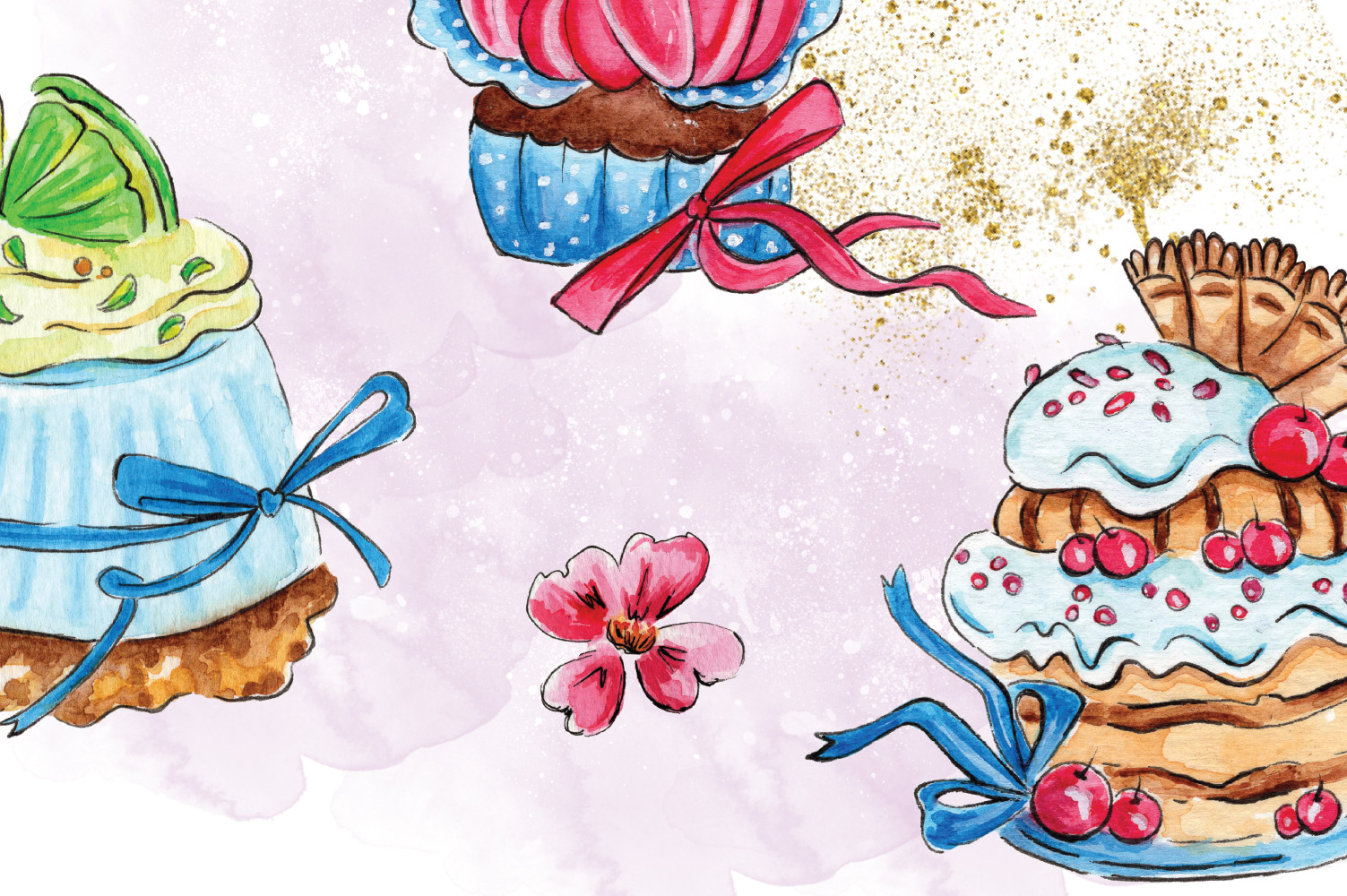 Cakes Collection Clip Art example image 3