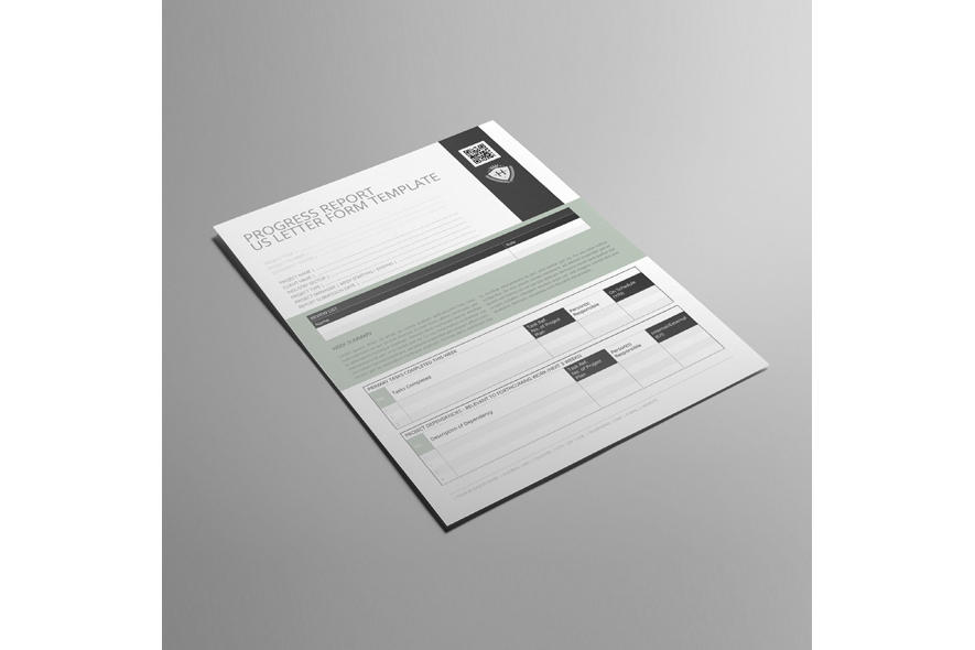 Progress Report US Letter Form Template example image 4