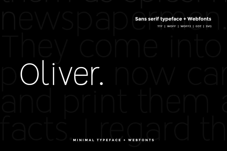 Oliver - Modern Typeface WebFont example image 1