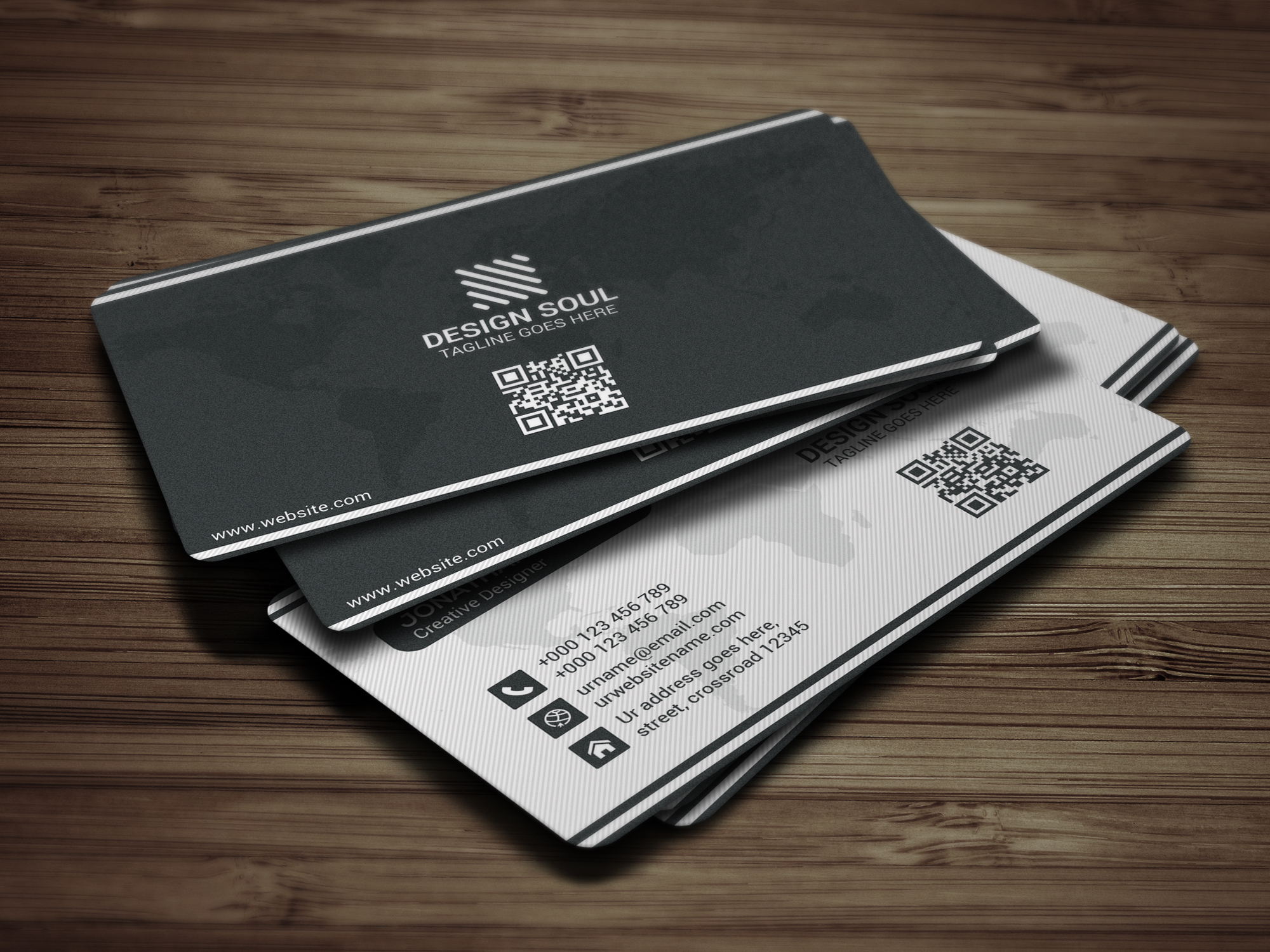 Modern Business Card example image 4