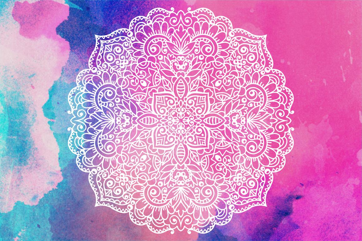 100 Vector Mandalas Round Ornaments example image 4