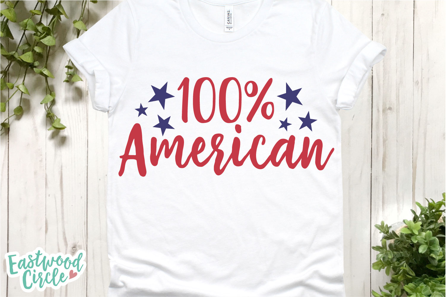 100 Percent American - A 4th of July SVG Cut File example image 2