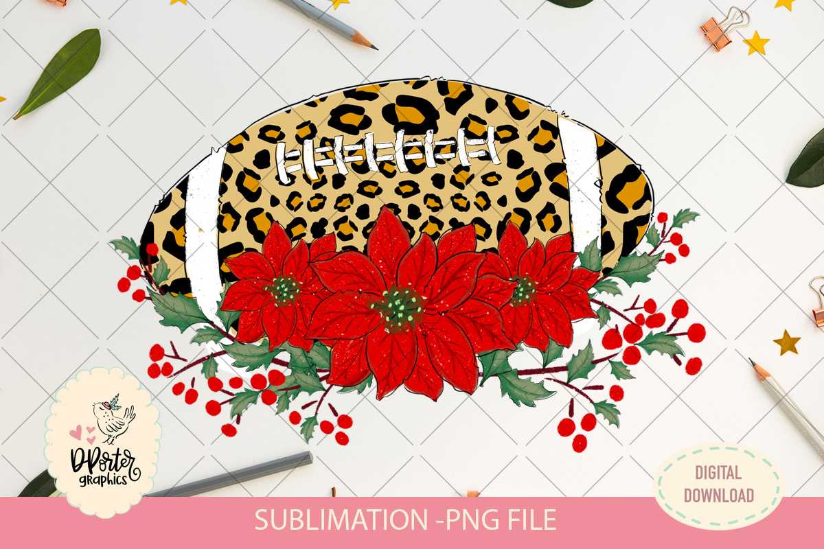 Football animal print sublimation png example image 2