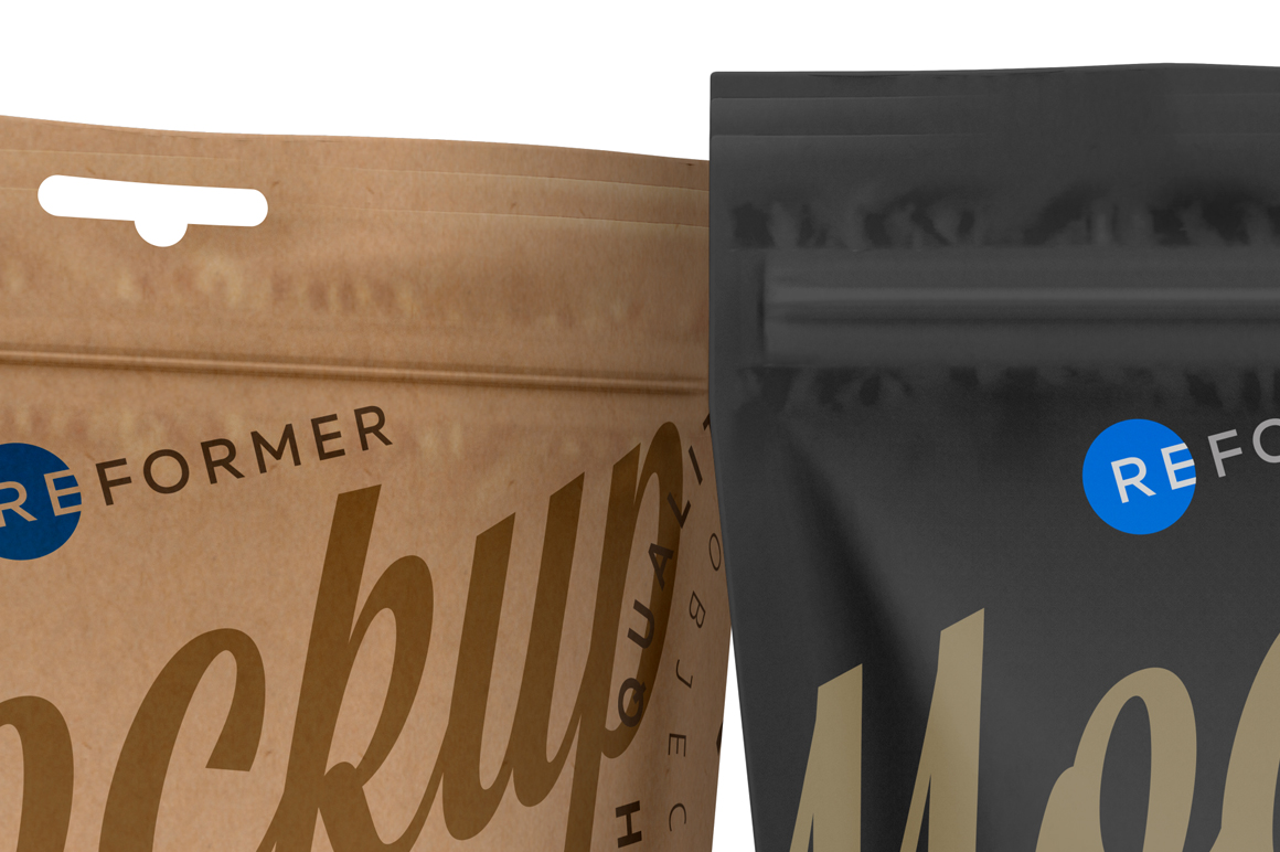 Three Paper Doy-Pack Pouch Mockup example image 5