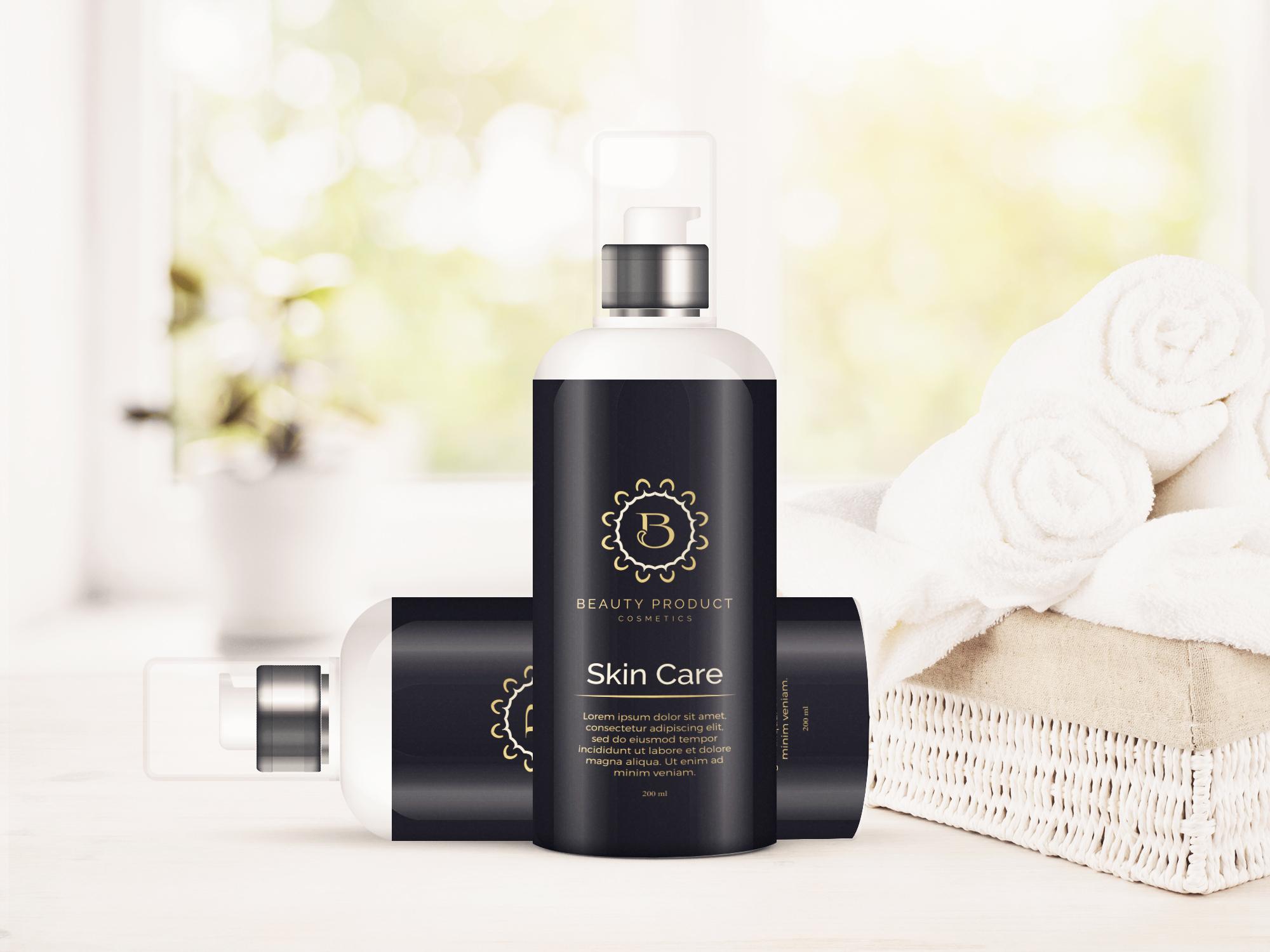 Cosmetic Bottle Mockup, Shampoo and Oil Bottle mock up example image 3