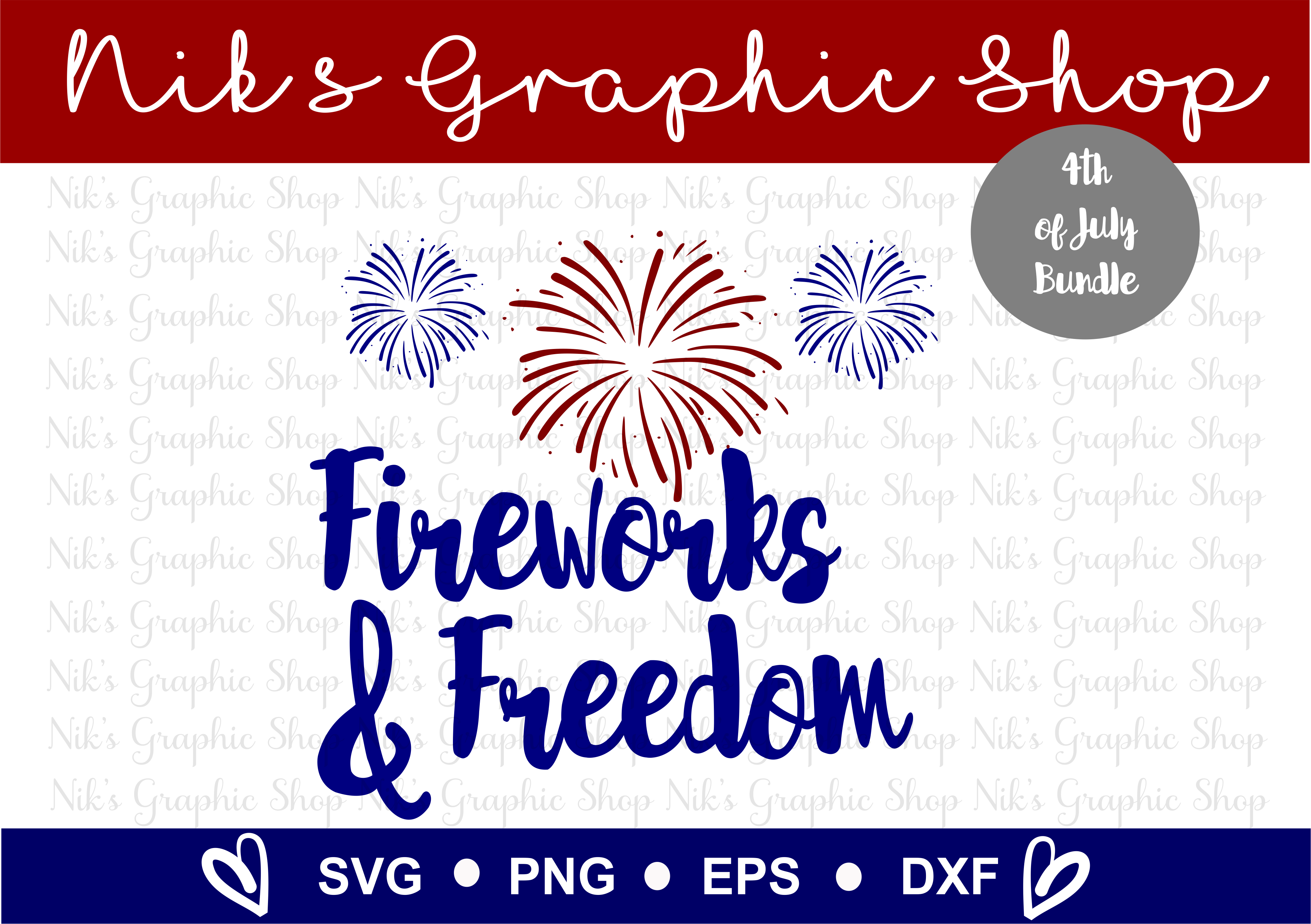 4th of July SVG, Fourth of July, July SVG, 4th SVG, Fourth example image 4