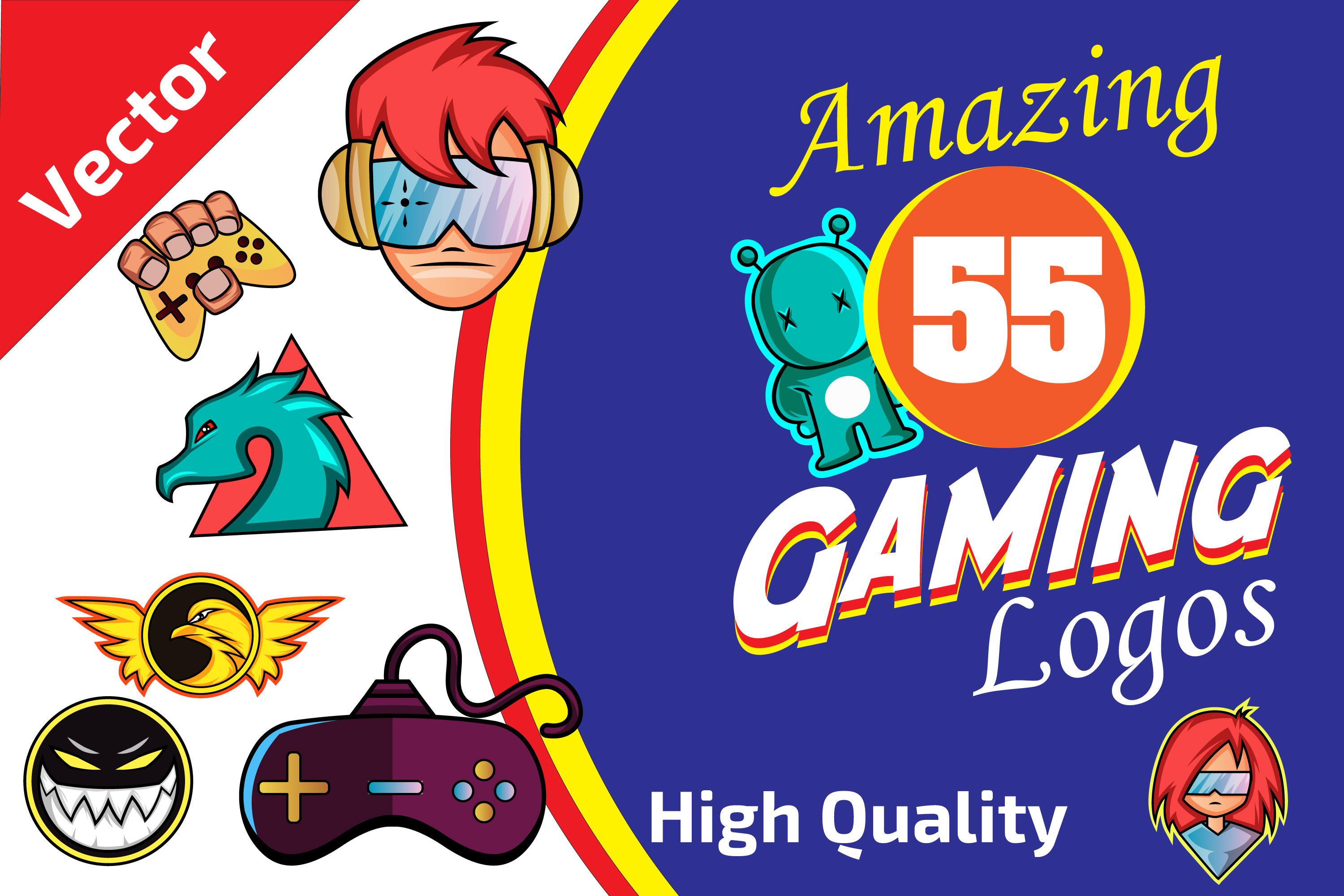 55x Huge Gaming LOGO collection! example image 1
