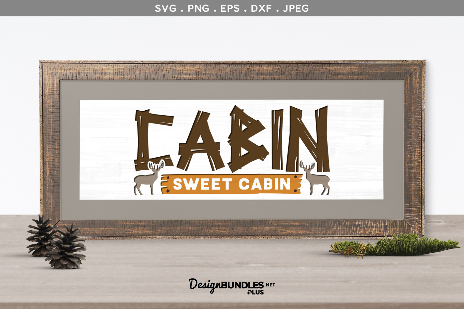 Cabin Sweet Cabin - svg & printable example image 1