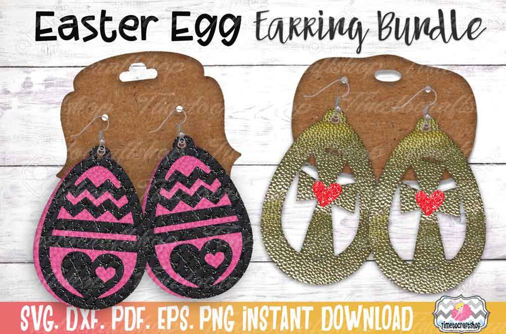 Easter Earring Bundle, Easter Egg Earrings, Cross Earrings example image 2
