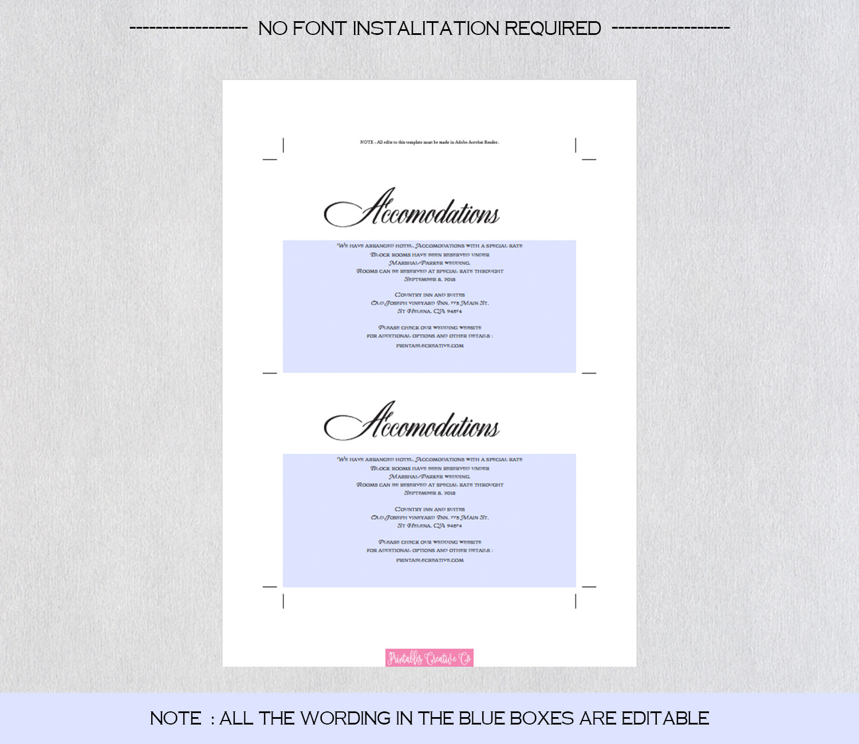 Wedding Information Card example image 4