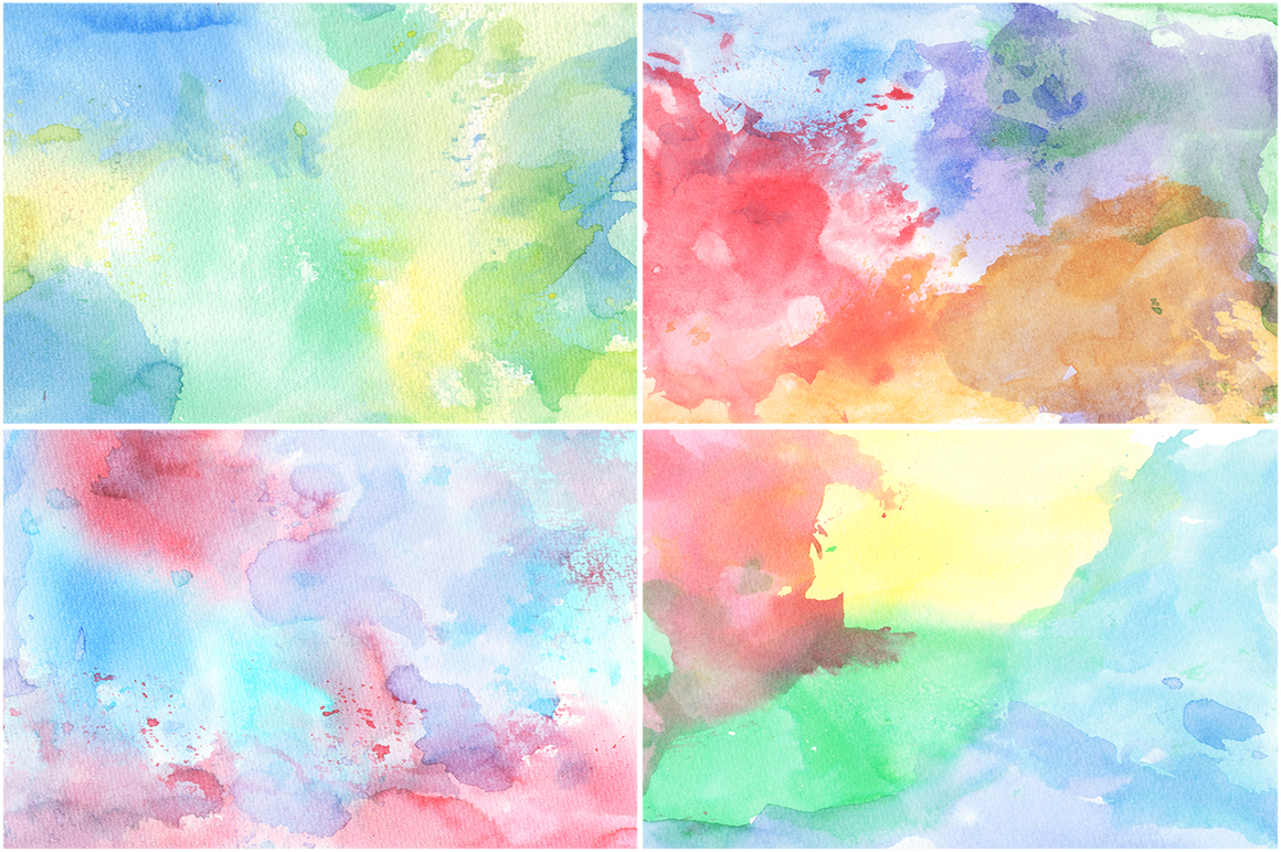 50 Watercolor Backgrounds 02 example image 2