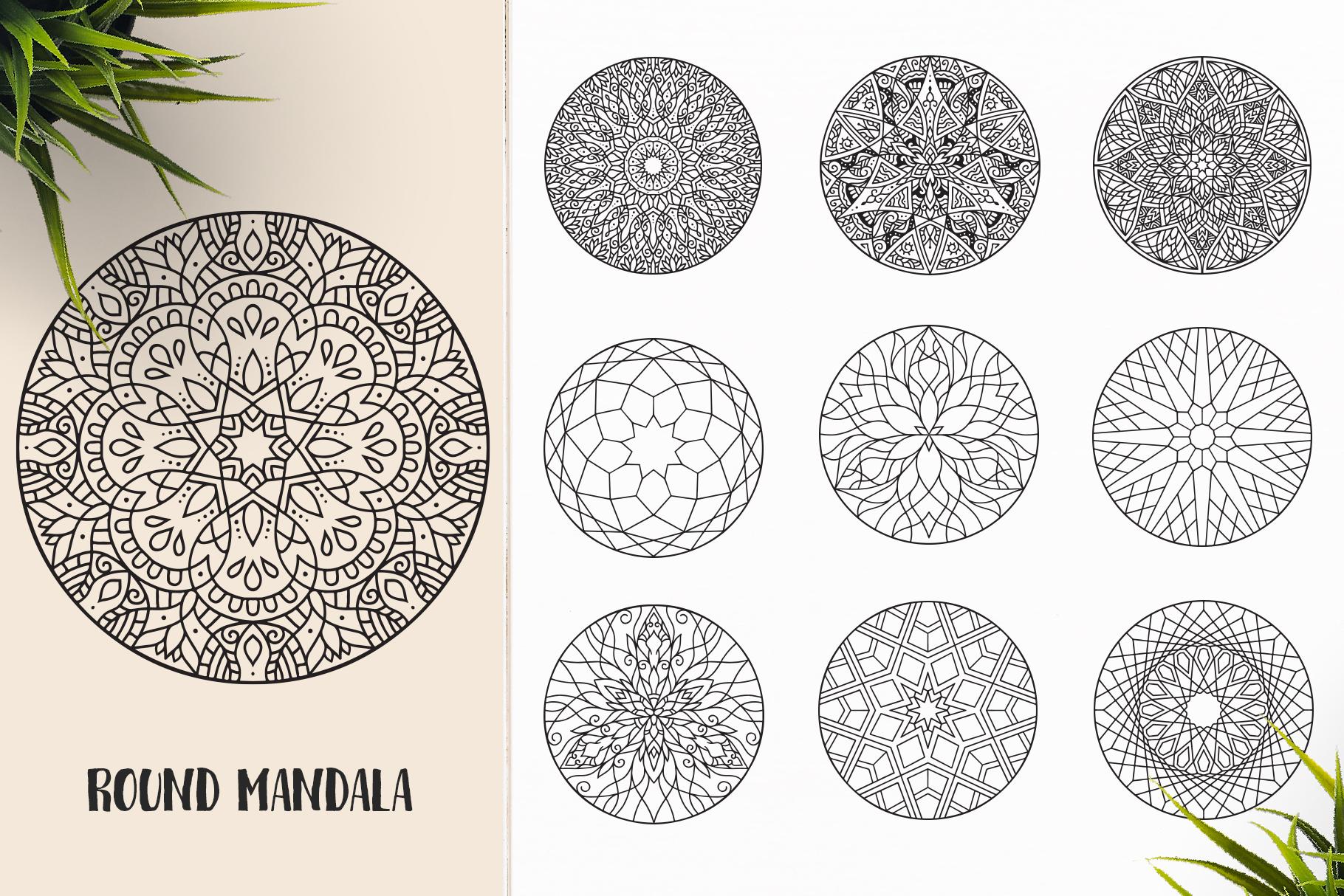 530 Vector Mandala Ornaments Bundle example image 28