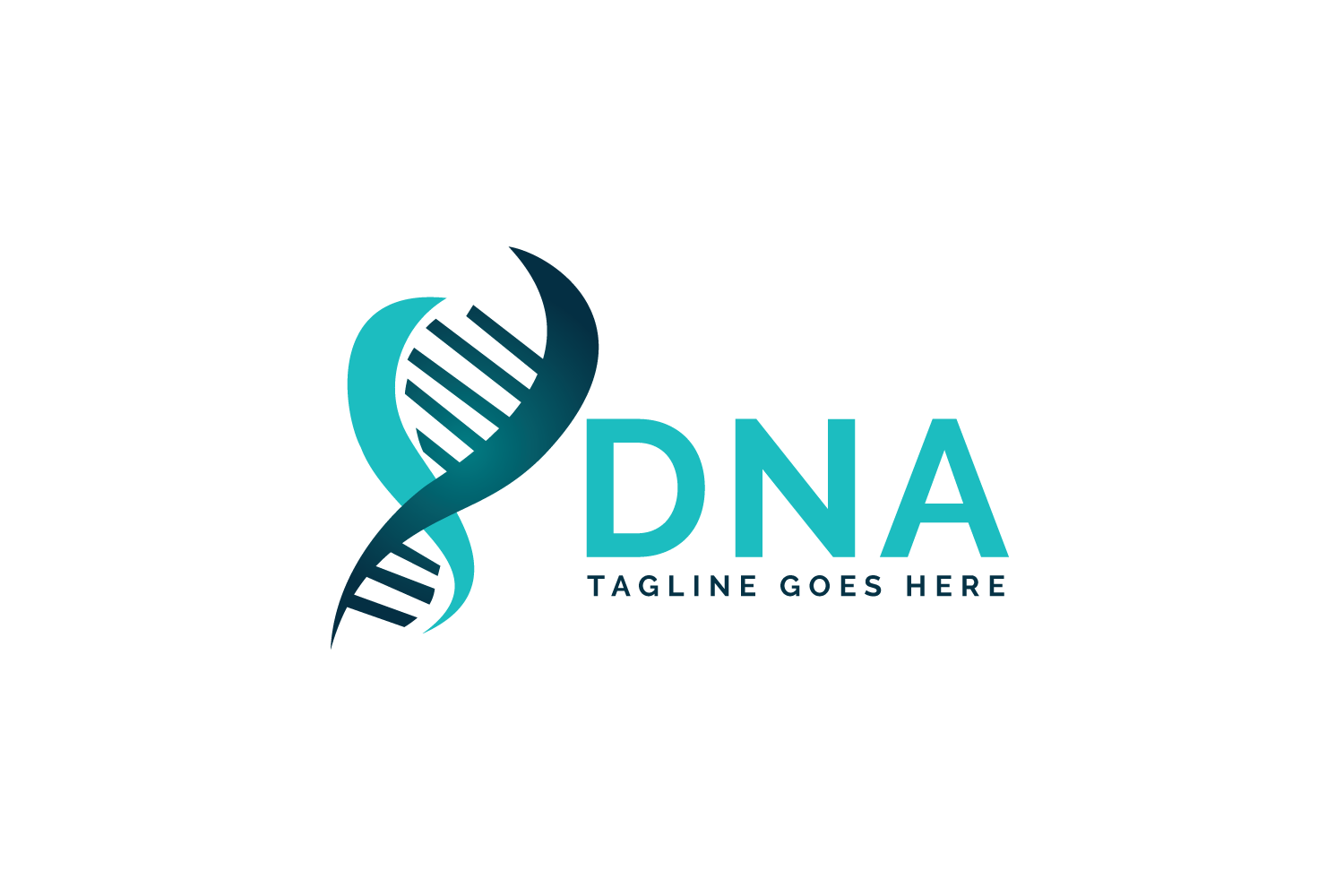 Human DNA and genetic logo design. example image 2