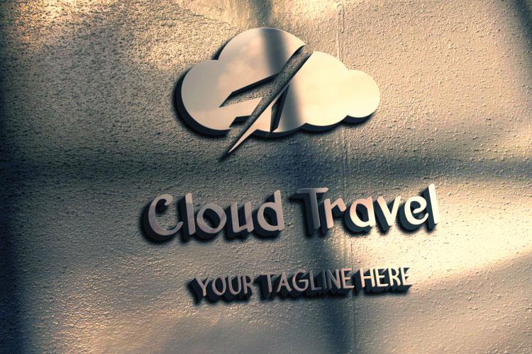 Travel Cloud Shape Logo example image 3