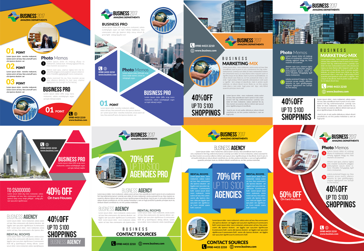 50 Business Flyers pack example image 4