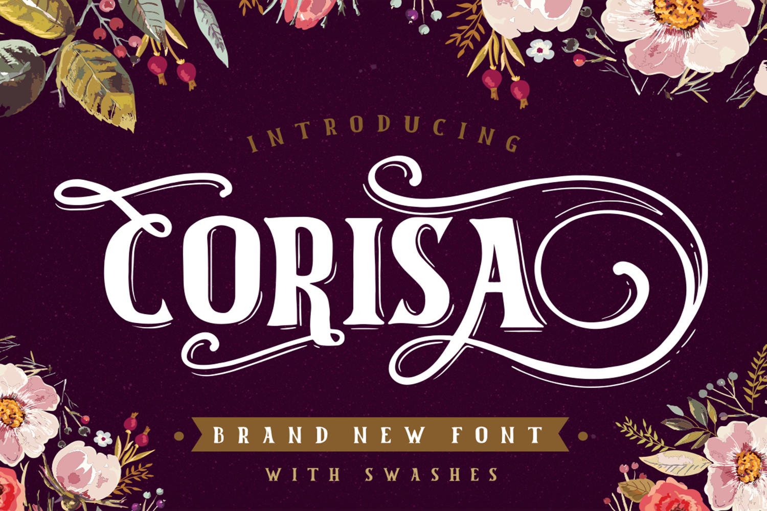 Corisa display font with swashes example image 1