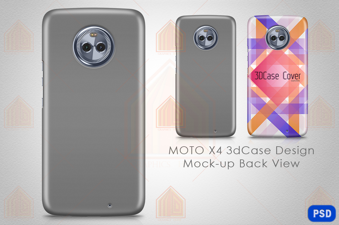 MOTO X4 3D Case Design Mockup Back View example image 1