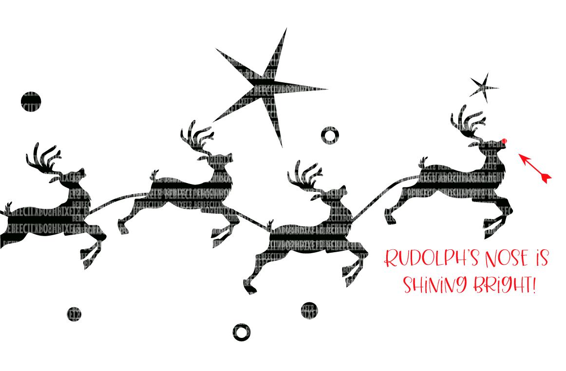 Christmas, SVG File, Santa, Reindeer example image 2